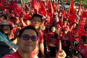 Joune Ganda Apresiasi Ribuan Massa Dan Kader PDIP Minut Tumpah Ruah