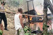 Kebakaran di Dusun Porendeang Majene, Kepolisian Wilayah Sulbar Bantu Evakuasi