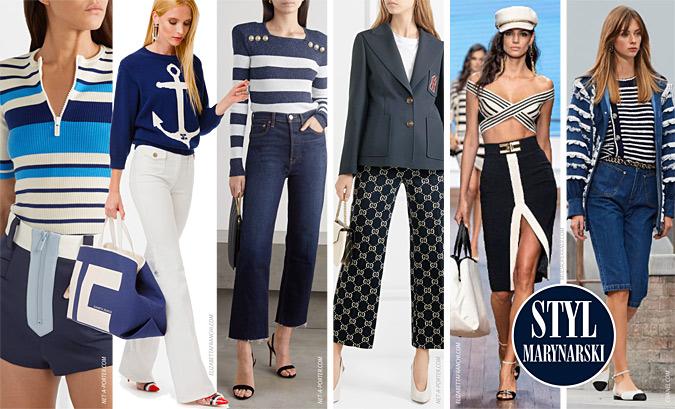 Styl marynarski moda lato 2020