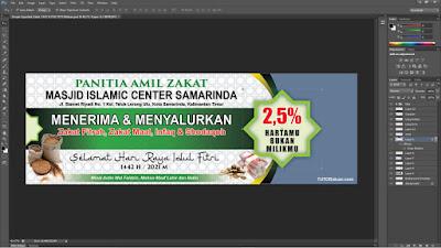 Free Desain Spanduk Zakat 1442 H PSD