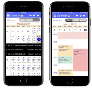 Mobile App Calendar - Month & Day Views