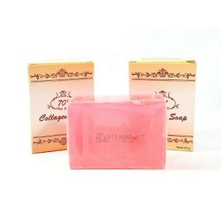 Sabun 701 Collagen Soap Plus Vit C & E Brightening Soap Sabun Kolagen BPOM