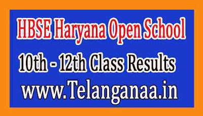 Haryana Open School 10th and 12th Class Results