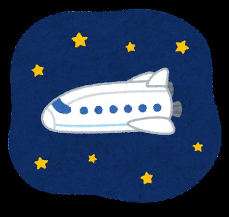 宇宙船のイラスト(旅客機)