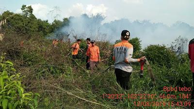 1,5 Hektar Lahan Masyarakat di Transos Terbakar
