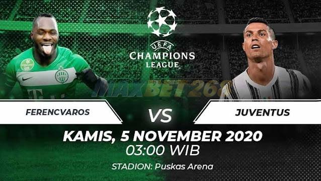 Prediksi Ferencvarosi Vs Juventus, Kamis 05 November 2020 Pukul 03.00 WIB