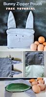 Bunny Zipper Pouch Bag Tutorial