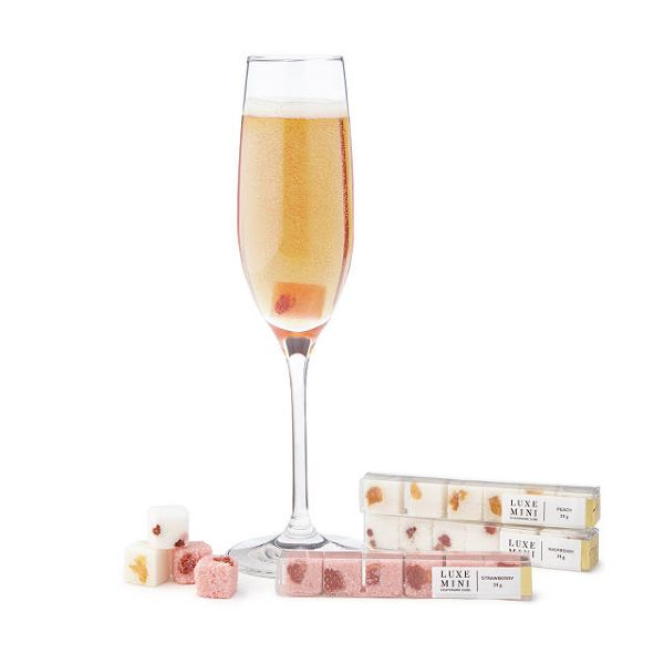 mimosa and champagne cocktail mixer cubes for stocking stuffers
