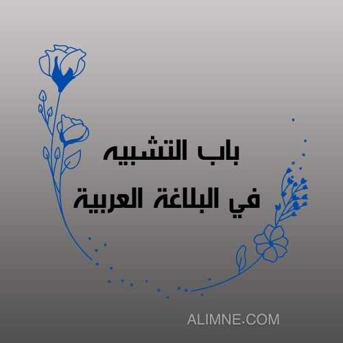 باب التشبيه  في البلاغة العربية