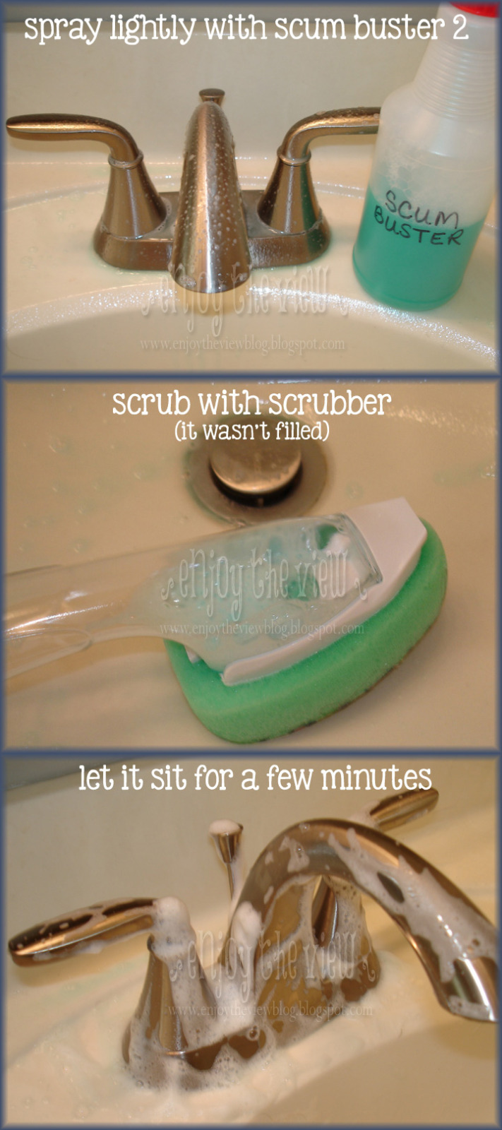 steps to using scum buster solution