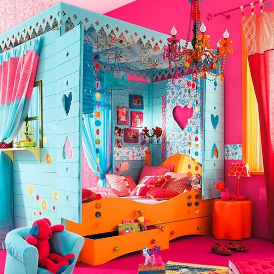 Bright Colorful Tween Bedroom: Hopskoch: July 2012