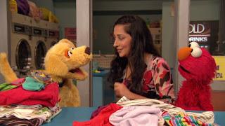 Leela, Brandeis, Elmo, Sesame Street Episode 4307 Brandeis Is Looking For A Job