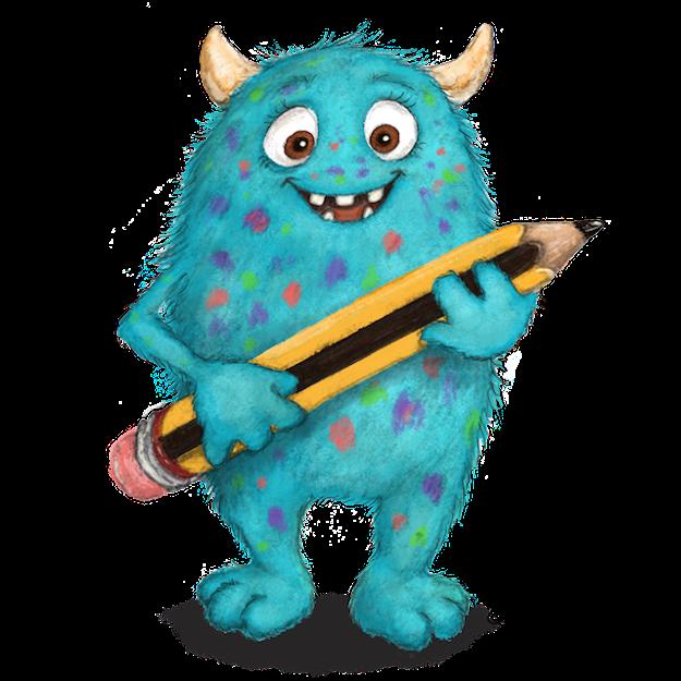 Monster, cute monster, niedliches Monster, Kinderbuchillustration, Angela Kommoß,