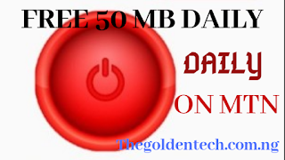 How to get 50mb per day on MTN by thegoldentech.com.ng