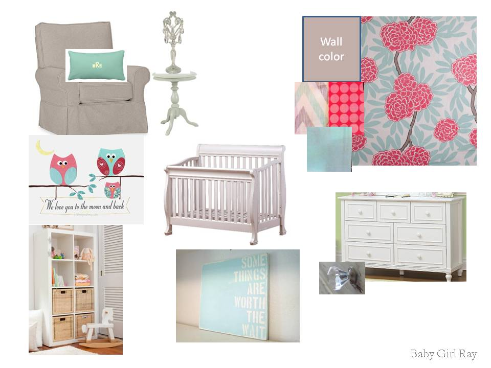 Journey For Baby Ray: Baby Girl's Nursery Mood Board