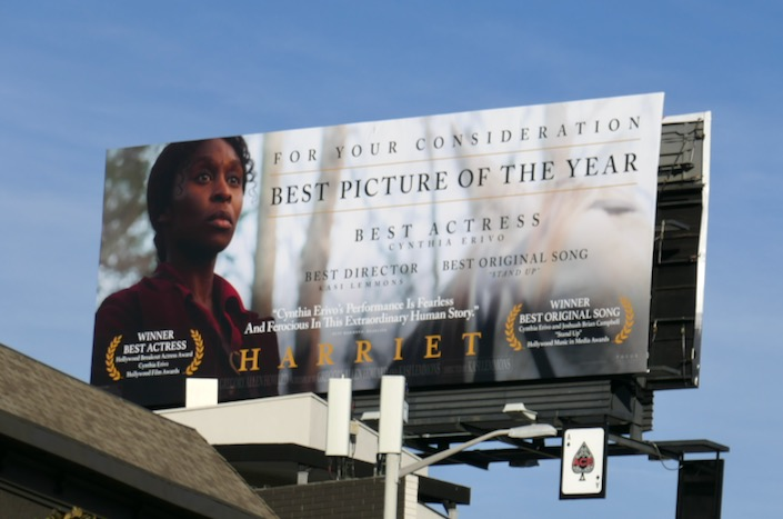 Harriet movie consideration billboard