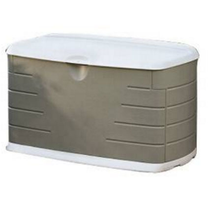 Rubbermaid 5F21 Deck Box with Seat, Backless Benches, Deck Boxes, Furniture, Outdoor Furniture, Patio Furniture, Storage Deck Box, White Deck Box, White Deck Boxes, Wicker Patio, Wicker White Deck Boxes,