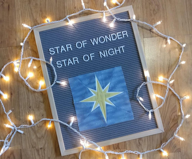 Star from Advent countdown to Christmas quilt pattern
