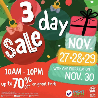 EXTRA NON-STOP DEALS WITH SM CITY MARILAO'S 3DAY SALE