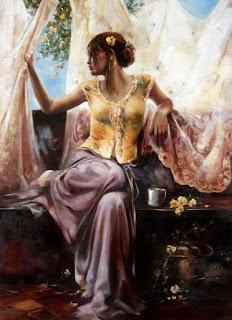 retratos-de-mujeres-artísticas-composiciones chicas-pinturas-oleo