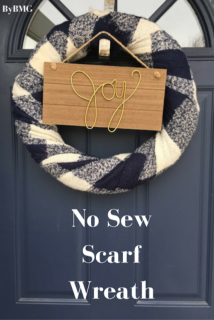 No Sew Scarf Wreath