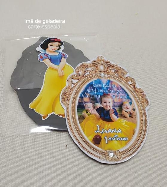 Imã de Geladeira As Princesas  Disney dicas e ideias para decoração de festa personalizados