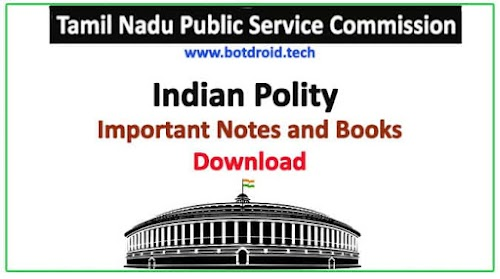 TNPSC Polity Important Study Material in Tamil & English | PDF Free Download