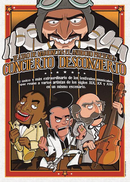 Cartel del espectáculo Concierto Desconzierto