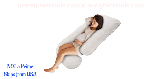 Pregnancy Pillow, Full Body Pillow with Detachable & Washable Velvet Cover 30.01% OFF