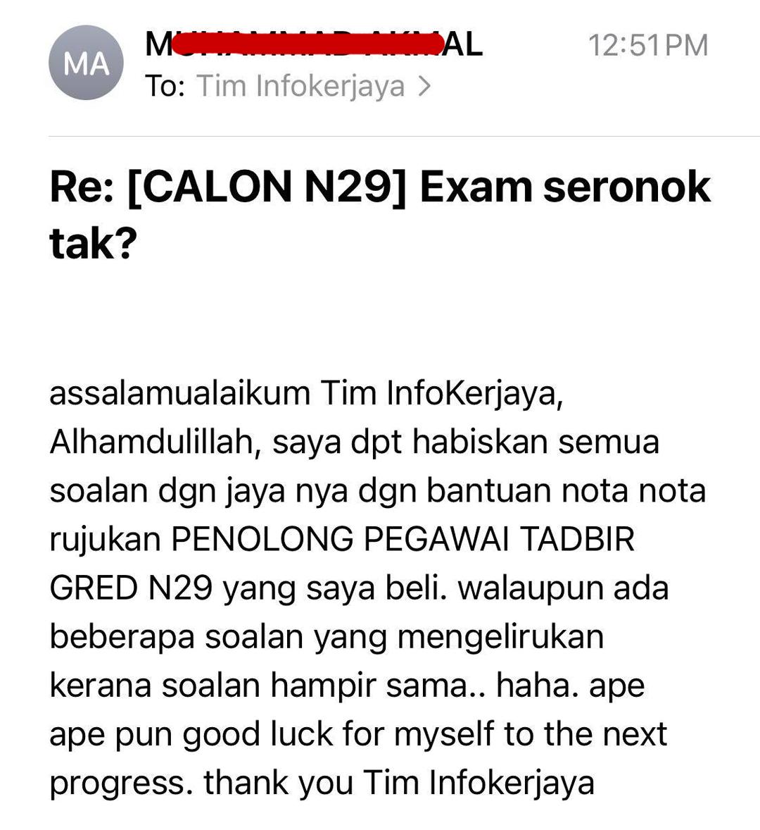 Rujukan Contoh Soalan Exam SPA N29