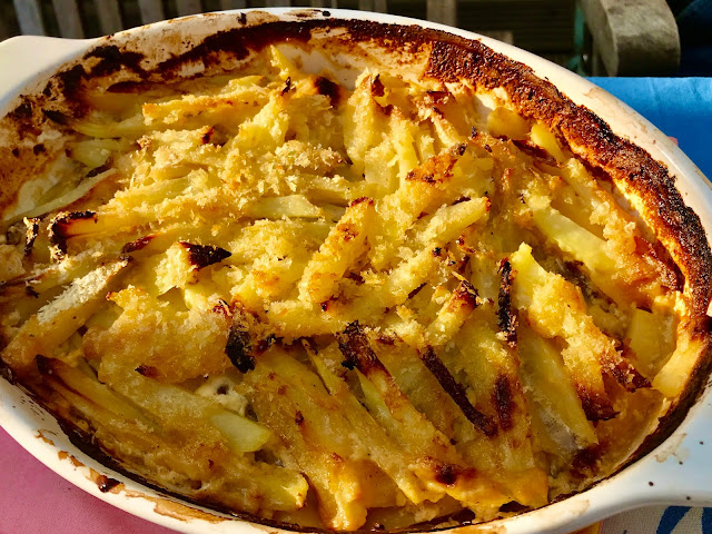 Jansson's Temptation, classic Swedish potato, onion and anchovy gratin