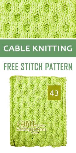Cable Knitting Free Stitch Pattern 43