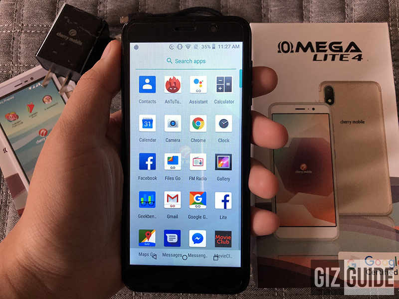Cherry Mobile Omega Lite 4 Review - Android 8.1 Oreo (Go LITEweight edition)