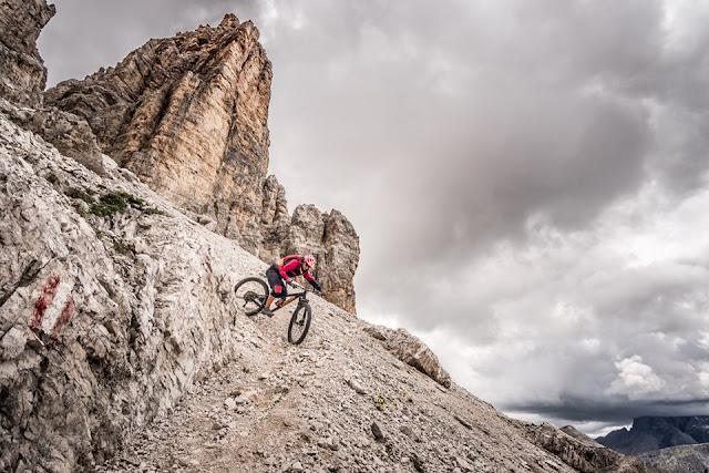 Trail MTB Mountainbike Hochebenkofel (2905 m) - Lückele-Scharte (2545 m) Dolomitentour