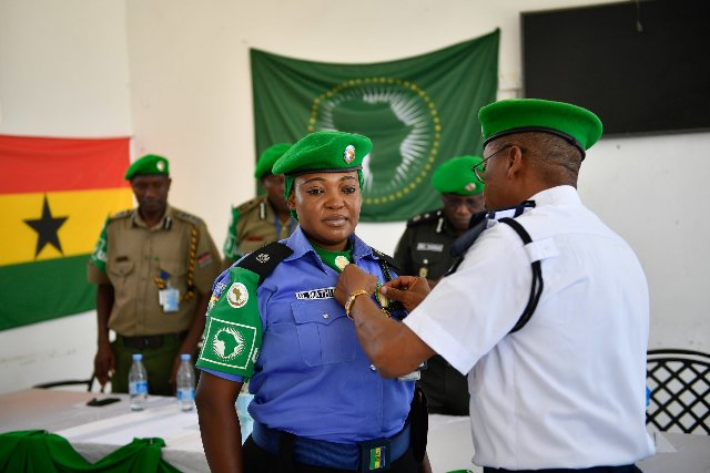 AU honours 32 Peacekeeping Officers from Ghana, Nigeria, Uganda, and Zambia