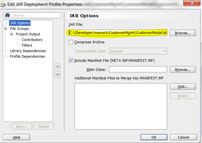 Fortune Minds - Java/J2EE: How to create Deployment Profiles (JAR