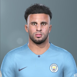PES 2019 Faces Kyle Walker by Bou7a Facemaker
