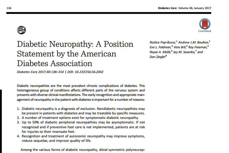 neuropatía periférica patogénesis de la diabetes