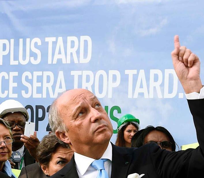 Chanceler socialista francês Laurent Fabius, assume ares de profeta e diz que metas enunciadas são 'irreversíveis'