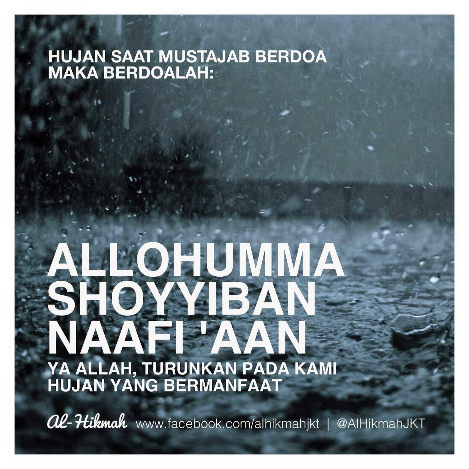 Do'a mustajab saat Hujan