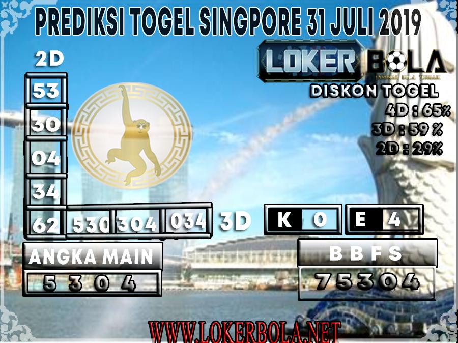 PREDIKSI TOGEL SINGAPORE 31 JULI 2019