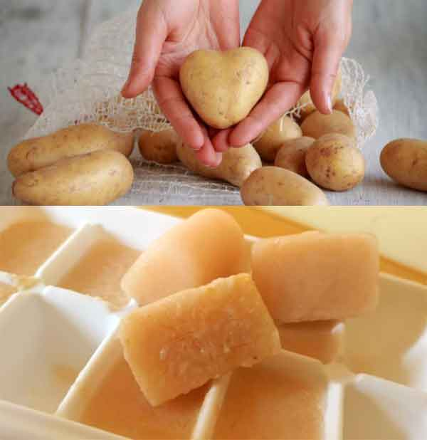 Potato Ice Cube  Massage | Relief all skin problems And Get Fair Skin In Just 7 Days