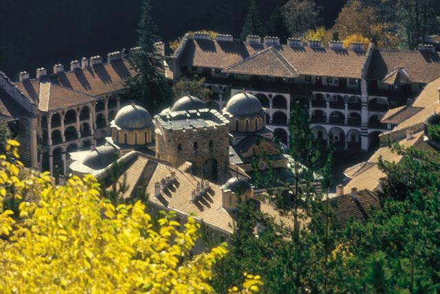 Rila Monastery ariel view