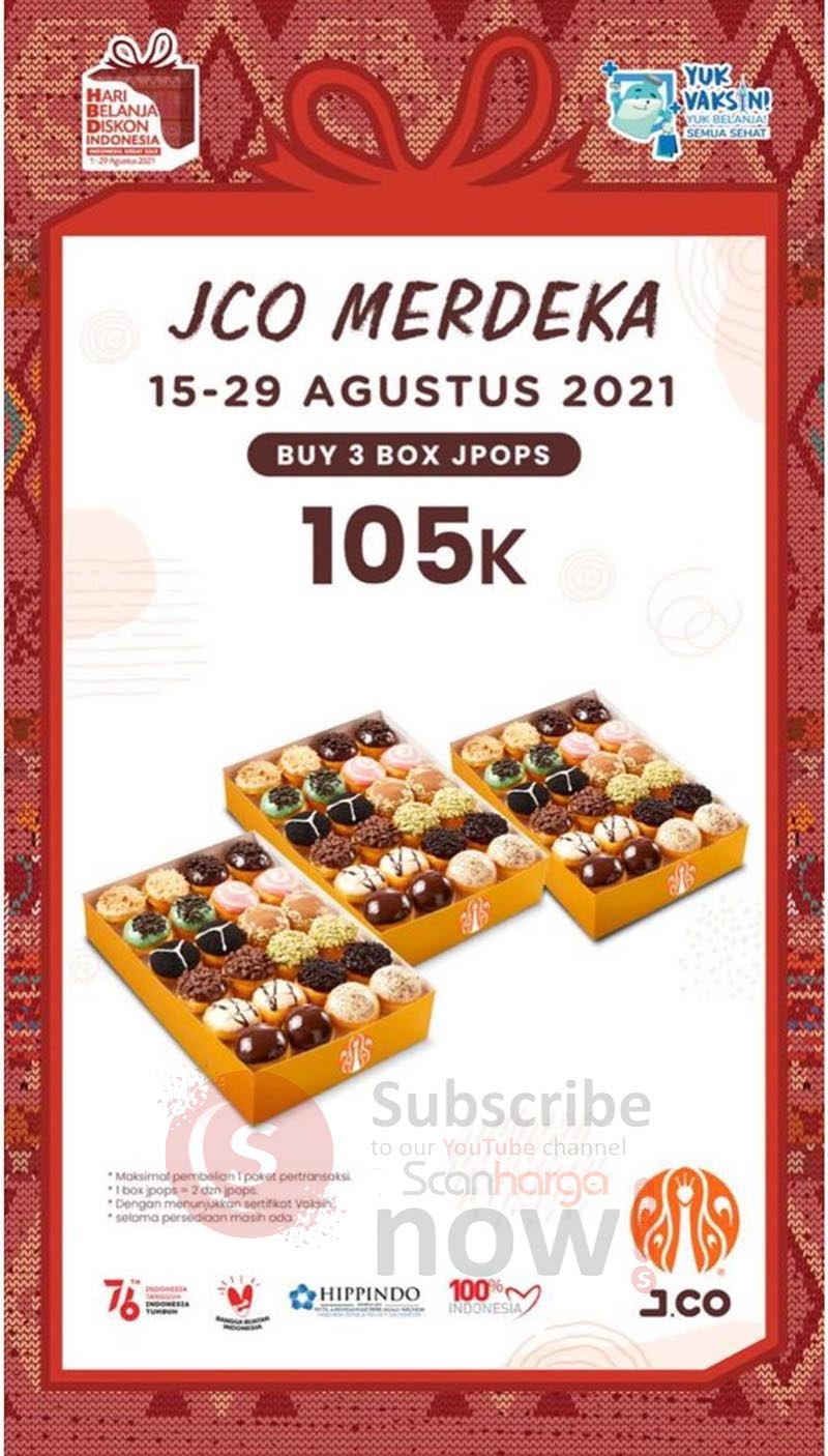 JCO Promo MERDEKA - Harga Spesial 3 Box Jpos hanya Rp. 105.000*