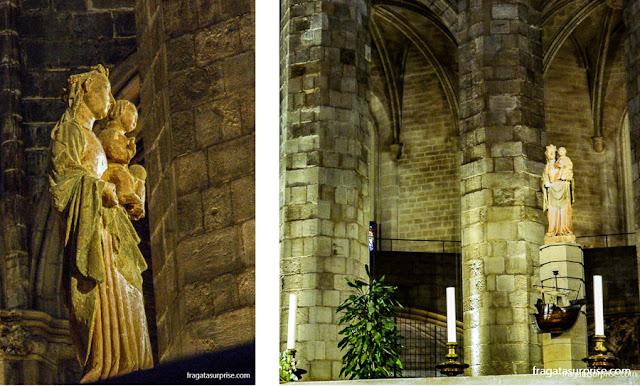 Imagem de Santa Maria del Mar na basílica de Barcelona