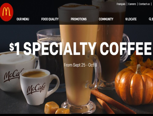 McDonalds $1 Specialty Coffee