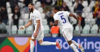 وتعادل المنتخب الفرنسي 2-2 مع بلجيكا بهدفين من بنزيمة ومبابي