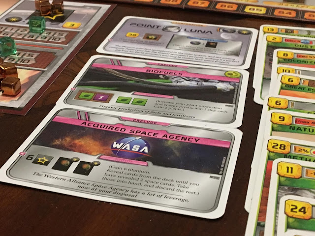 A look at some of the Prelude cards in action for Terraforming Mars Prelude expansion