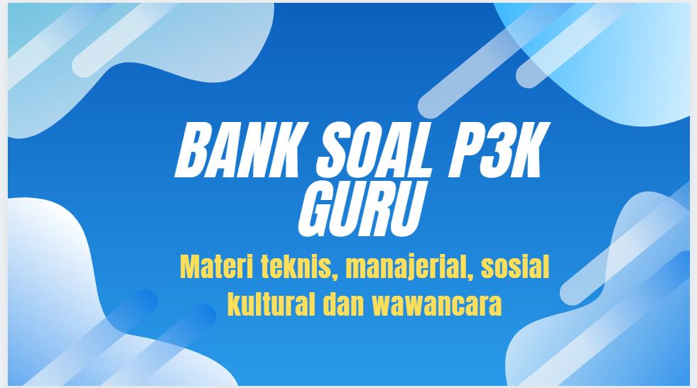 gambar bank soal p3k guru 2021