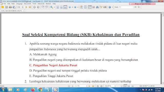 Download contoh soal pppk skb kehakiman dan peradilan dan kunci jawaban